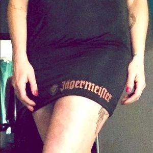 Jagermeister short sexy black dress